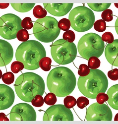 apple cherry vector image