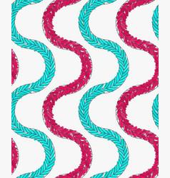artistic color brushed green pink braids vector image