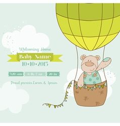 baby shower card - with bear vector image