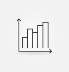 bar chart thin line concept simple icon vector image