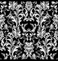 Baroque black white seamless pattern luxury vector