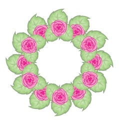 beautiful wreath of red roses vector image
