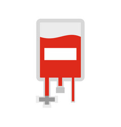 Blood donation bag icon flat style vector
