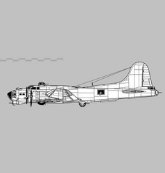 boeing b-17 flying fortress vector image
