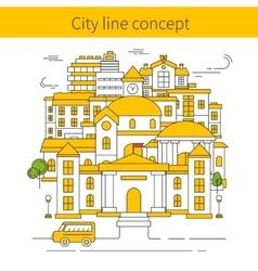 Building Line Concept vector image