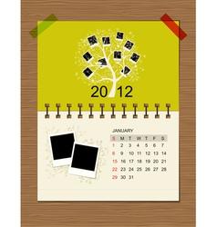 calendar2012 january vector image