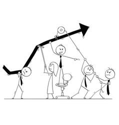 Cartoon of business people teamwork concept vector