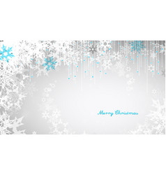 Christmas light background with white snowflakes vector