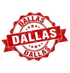 Dallas round ribbon seal vector