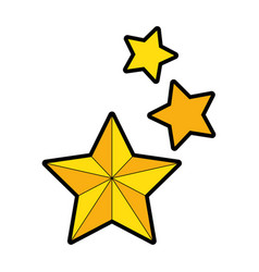 decorative stars isolated icon vector image