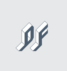 Df - 2-letter code d and f - monogram or logotype vector