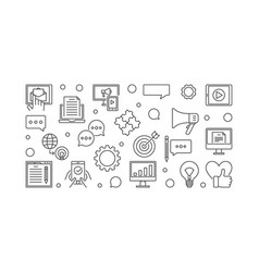 digital content outline banner or vector image