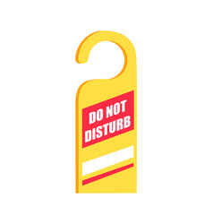 do not disturb sign icon vector image