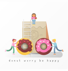 donuts banner vector image