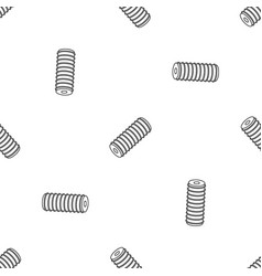 Electric spring coil pattern seamless vector