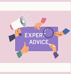 Expert advice consulting service business help vector