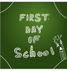 First day of school Start of new school year vector