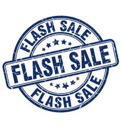 Flash sale blue grunge stamp vector