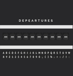 Flight departure banner in airport markup style vector