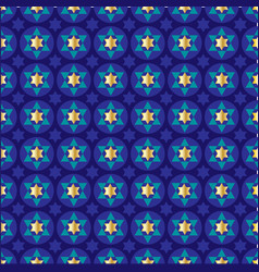 Gold blue star of david background pattern vector