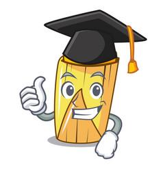 Graduation corn tamales shape on the cartoon vector