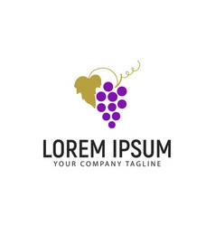 grape logo design concept template design concept vector image