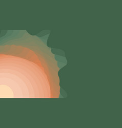 Green to orange paper layers 3d abstract gradient vector