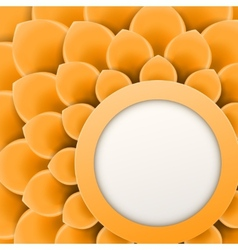 Greeting card or background with soft orange vector