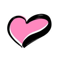 hand drawn heart on white background vector image