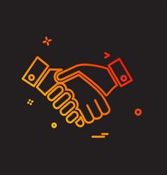 hands shake icon design vector image