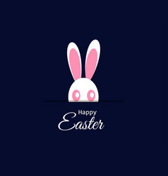 happy easter holiday card with easter bunny vector image