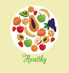 healthy food fruit concept vector image