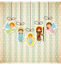 Holy family design vector