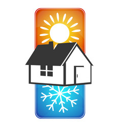 home circulation hot and cold vector image