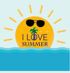 I love summer free vector