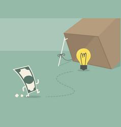 idea money vector image
