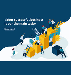 Isometric article for business solutions vector