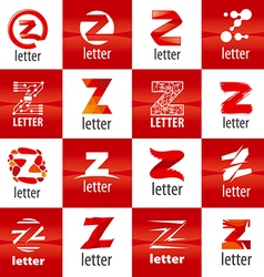 Large set logo letter z vector