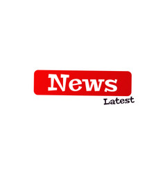 latest new label set breaking news banner vector image