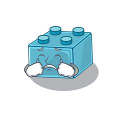 Lego brick toys cartoon character concept with a vector