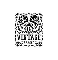 Letter g vintage logo design vector