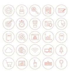 Line Website Development Circle Icons vector image