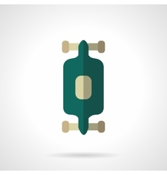 Longboard flat color design icon vector image