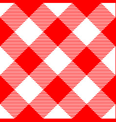 Lumberjack plaid pattern in red and white vector