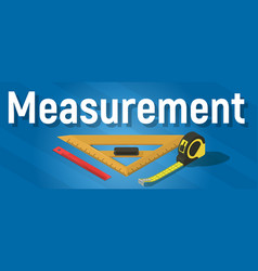 Measurement concept banner isometric style vector