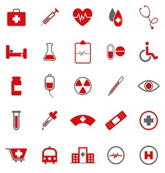 Medical color icons on white background vector image vector image