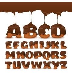 Melting Chocolate Alphabet Cookies Collection vector