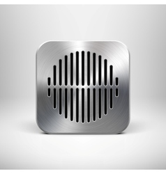 Metallic Speaker Icon vector image