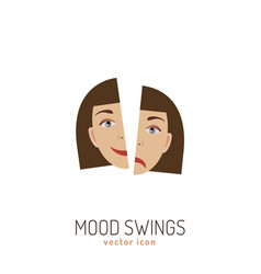 Mood swing icon vector