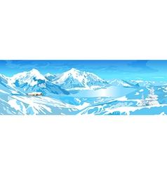 Mountains and lake vector image